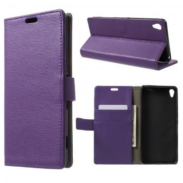 """Elegáns """"Litchi"""" tárca Sony Xperia XA készülékekhez – lila"""