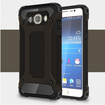 """Strapabíró """"Rock"""" védőtok Samsung Galaxy J7 (2016) készülékekhez – fekete"""