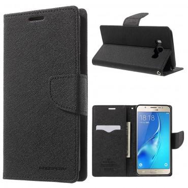 Goospery Fancy Diary tárca Samsung Galaxy J7 (2016) készülékekhez – fekete