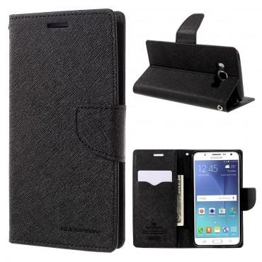 Goospery Fancy Diary tárca Samsung Galaxy J5 2016 készülékekhez – fekete