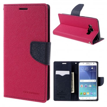 Goospery Fancy Diary tárca Samsung Galaxy J5 2016 készülékekhez – magenta