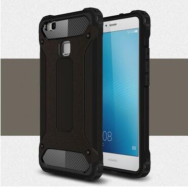 """Strapabíró """"Rock"""" védőtok Huawei P9 Lite készülékekhez – fekete"""