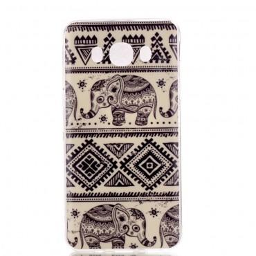Tribal Elephant TPU géles védőtok Samsung Galaxy J7 2016 készülékekhez