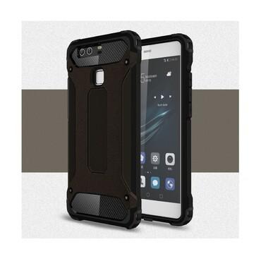 """Strapabíró """"Rock"""" védőtok Huawei P9 készülékekhez – fekete"""