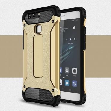 """Strapabíró """"Rock"""" védőtok Huawei P9 készülékekhez – aranyszínű"""