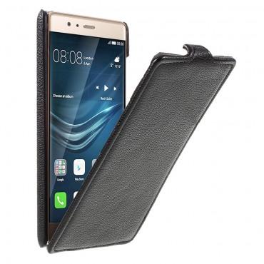 Divatos flip tárca Huawei P9 készülékekhez – fekete