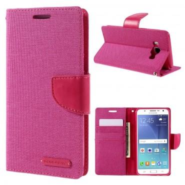 Goospery Canvas Diary tárca Samsung Galaxy J5 2016 készülékekhez – rózsaszín