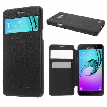 Goospery Wow Bumper View tárca Samsung Galaxy A5 2016 készülékekhez – fekete