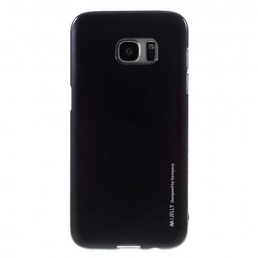 Goospery iJelly Case TPU géles védőtok Samsung Galaxy S7 Edge készülékekhez – fekete