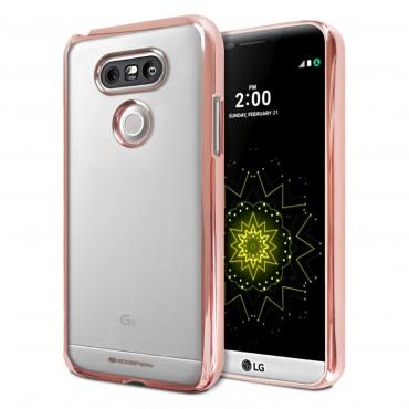 Kifejezetten vékony Goospery Ring védőtok LG G5 készülékekhez – rózsaszín