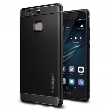 """Spigen """"Rugged Armor"""" védőtok Huawei P9 készülékekhez – fekete"""