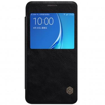 """Elegáns nyitható tok """"Qin"""" Samsung Galaxy J7 (2016) készülékekhez - fekete"""