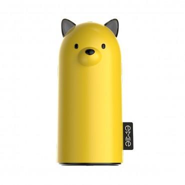 Prémium power bank Emie Samo - 5200 mAh – sárga
