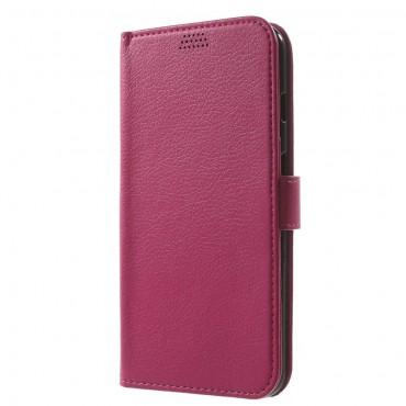 """Elegáns """"Litchi"""" tárca iPhone 8 Plus / iPhone 7 Plus készülékekhez – rózsaszín"""