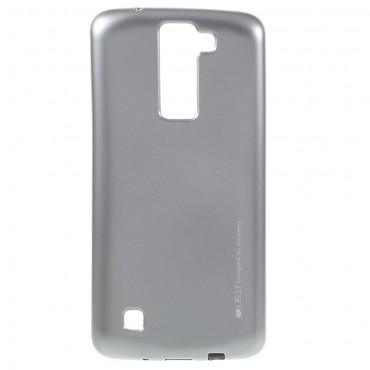 Goospery iJelly Case TPU géles védőtok LG K8 készülékekhez – ezüstszínű