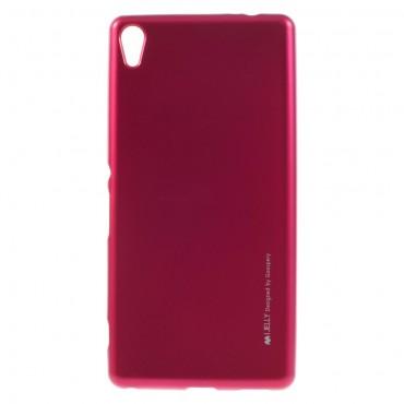 Goospery iJelly Case TPU géles védőtok Sony Xperia XA készülékekhez – magenta