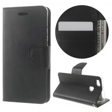 Goospery Bravo Diary tárca Huawei P9 Lite készülékekhez – fekete