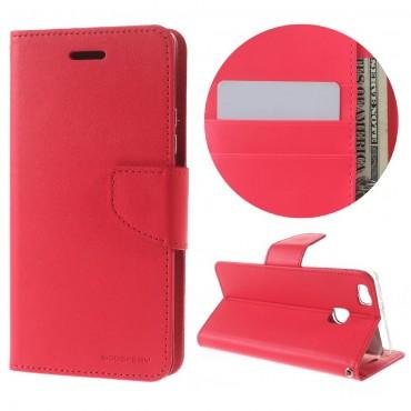 Goospery Bravo Diary tárca Huawei P9 Lite készülékekhez – magenta