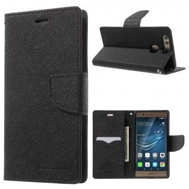 Goospery Fancy Diary tárca Huawei P9 Lite készülékekhez – fekete