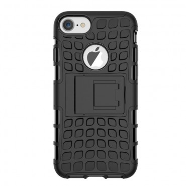 """Strapabíró """"Tough"""" TPU védőtok iPhone 8 / iPhone 7 készülékekhez – fekete"""