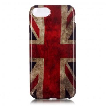"""TPU gél tok """"Retro UK"""" iPhone 8 / iPhone 7 készülékekhez"""