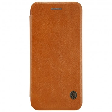 """Elegáns """"Qin"""" tárca iPhone 8 / iPhone 7 készülékekhez – barna"""