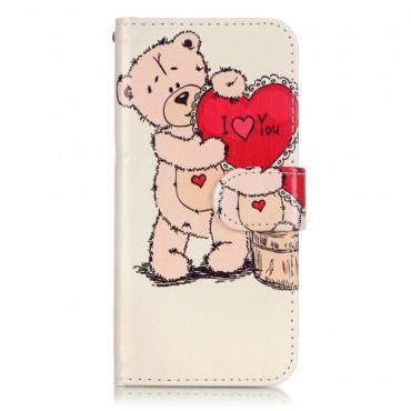 """Divatos """"Bear Heart"""" tárca iPhone 8 / iPhone 7 készülékekhez"""