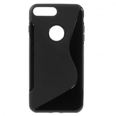 S-Line TPU géles védőtok iPhone 8 Plus / iPhone 7 Plus készülékekhez – fekete