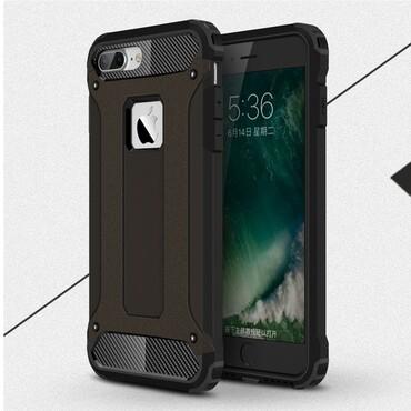 """Strapabíró tok """"Rock"""" iPhone 7 Plus készülékekhez - fekete"""