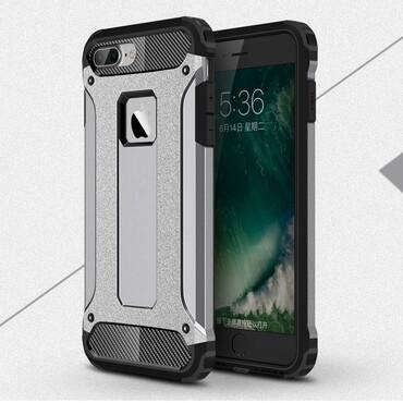 """Strapabíró """"Rock"""" védőtok iPhone 8 Plus / iPhone 7 Plus készülékekhez – szürke"""