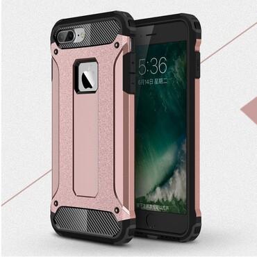 """Strapabíró """"Rock"""" védőtok iPhone 8 Plus / iPhone 7 Plus készülékekhez – rózsaszín"""