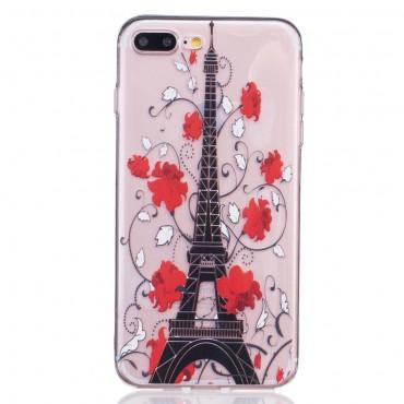 """Divatos TPU géles """"Eiffel Flower"""" védőtok iPhone 8 Plus / iPhone 7 Plus készülékekhez"""