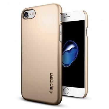 """Spigen """"Thin Fit"""" védőtok iPhone 7 készülékekhez – champagne gold"""