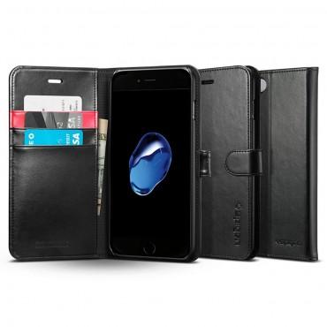 """Nyitható tok Spigen """"Wallet S"""" iPhone 8 Plus / iPhone 7 Plus készülékekhez - fekete"""