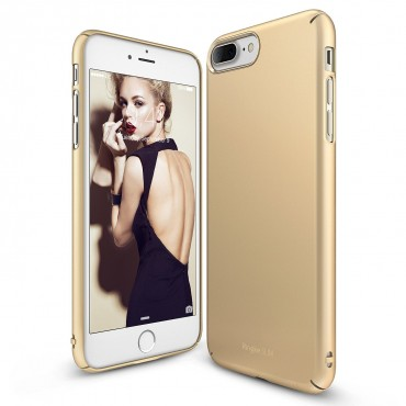 "Ringke ""Slim"" védőtok iPhone 7 Plus telefonokhoz – royal gold"