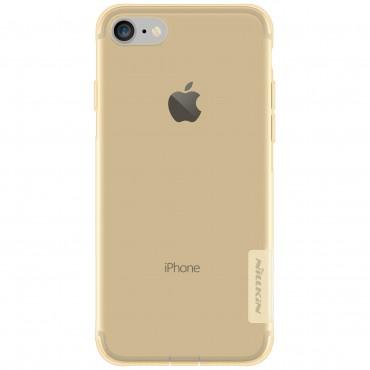 """Vékony """"Nature"""" prémium védőtok iPhone 8 / iPhone 7 készülékekhez - aranyszínű"""