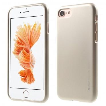 TPU gél tok Goospery iJelly Case iPhone 8 / iPhone 7 készülékekhez - arany