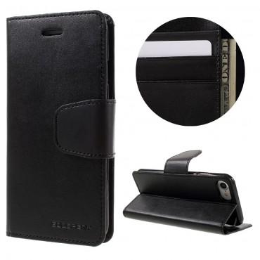 Elegáns Goospery Sonata tárca iPhone 8 / iPhone 7 készülékekhez – fekete