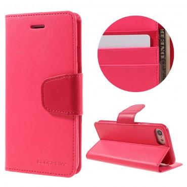 Elegáns Goospery Sonata tárca iPhone 8 / iPhone 7 készülékekhez – magenta