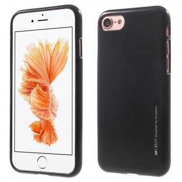 TPU gél tok Goospery iJelly Case iPhone 8 Plus / iPhone 7 Plus készülékekhez - fekete