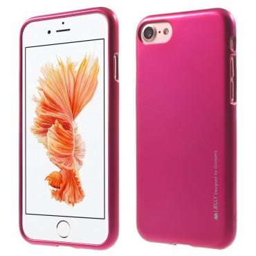 TPU gél tok Goospery iJelly Case iPhone 8 Plus / iPhone 7 Plus készülékekhez - bíborvörös