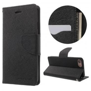 Nyitható tok Goospery Fancy Diary iPhone 6 Plus / 6S Plus készülékekhez - fekete