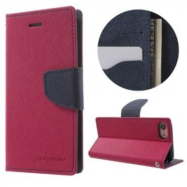 Nyitható tok Goospery Fancy Diary iPhone 6 Plus / 6S Plus készülékekhez - bíborvörös