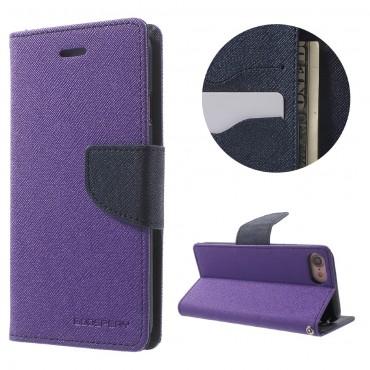 Nyitható tok Goospery Fancy Diary iPhone 6 Plus / 6S Plus készülékekhez - lila