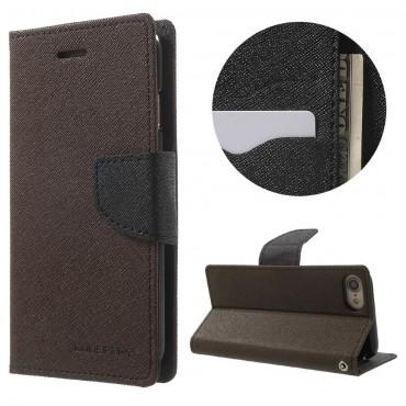Nyitható tok Goospery Fancy Diary iPhone 6 Plus / 6S Plus készülékekhez - barna
