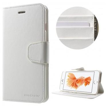 Elegáns nyitható tok Goospery Sonata iPhone 8 Plus / iPhone 7 Plus készülékekhez - fehér