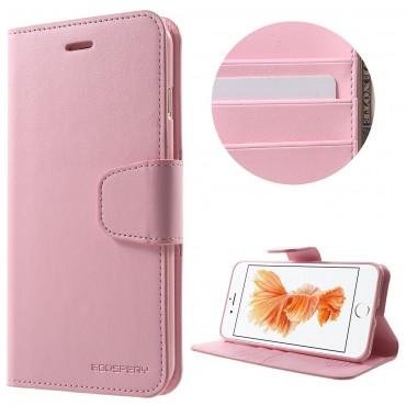 Elegáns nyitható tok Goospery Sonata iPhone 8 Plus / iPhone 7 Plus készülékekhez - rózsaszín