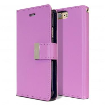 Elegáns Goospery Rich Diary tárca iPhone7 Plus készülékekhez – lila