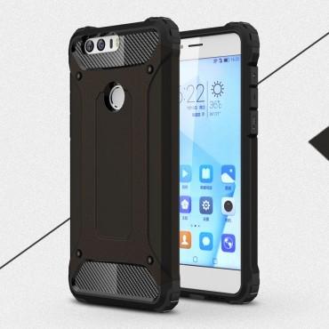 """Strapabíró """"Rock"""" védőtok Huawei Honor 8 készülékekhez – fekete"""