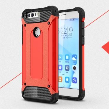 """Strapabíró """"Rock"""" védőtok Huawei Honor 8 készülékekhez – piros"""